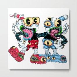 Monster Cups Metal Print