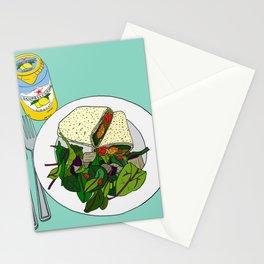 Healthy Falafel Wrap Lunch Stationery Cards