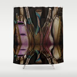 Abstract Jugs Shower Curtain