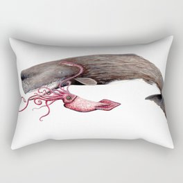 Epic battle between the sperm whale and the giant squid Rectangular Pillow
