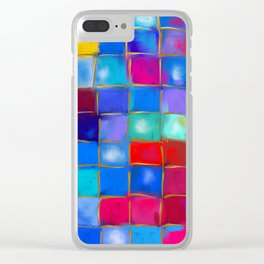MoSaiC ART ' ALL THe PReTTY CoLouRS ' By SHiRLeY MacARTHuR Clear iPhone Case