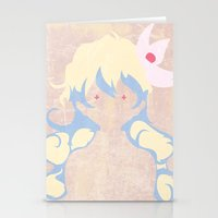 gurren lagann Stationery Cards featuring Minimalist Nia by 5eth
