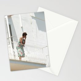 Lady on Balcony Stationery Cards