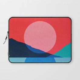 Abstraction_Mountains_SUNSET_Reflection Laptop Sleeve
