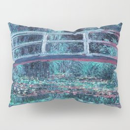 Monet The Lily Pond Turquoise Pink Pillow Sham