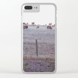 Sheep Valley Clear iPhone Case