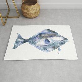 Flat Fish Watercolor Rug
