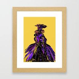 african lady Framed Art Print
