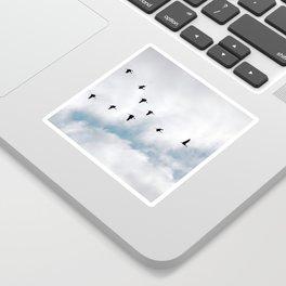 """""""Flock"""" Bird Art by Murray Bolesta Sticker"""