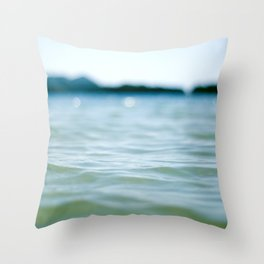 Wave Bokeh The Deep End Throw Pillow