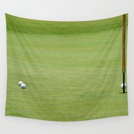 Golf balls near flagstick Wall Tapestry