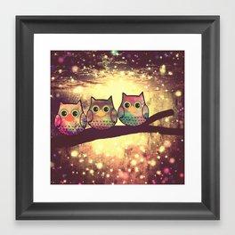 owl-246 Framed Art Print