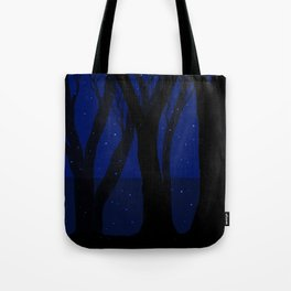 Magical Forest at Midnight Tote Bag