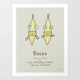 Pisces V2 Art Print