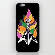 Frying V (Black) iPhone & iPod Skin