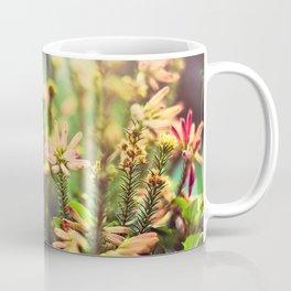 Wild flowers and field heather in full bloom Coffee Mug