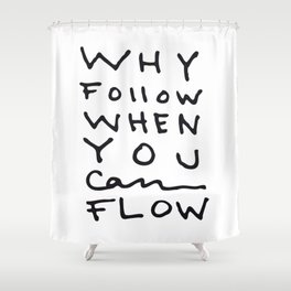 Flow not Follow Shower Curtain