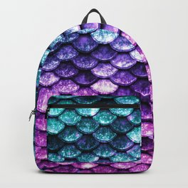 Mermaid Tail Dark Unicorn Backpack