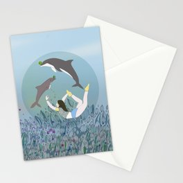 Stretching in a bubble Stationery Cards