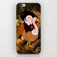 thanksgiving iPhone & iPod Skins featuring Thanksgiving turkeys by Afro Pig