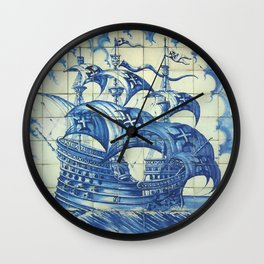Caravela Portuguese tile Wall Clock