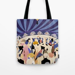 Dancing couples in jazz age nightclub Tote Bag