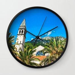 Old Mountain Church Wall Clock