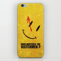 watchmen iPhone & iPod Skins featuring The Watchmen (Super Minimalist series) by Itomi Bhaa
