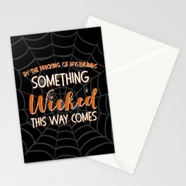 Something wicked this way comes. Halloween Shakespeare Quote Stationery Cards