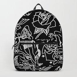 Black print Backpack