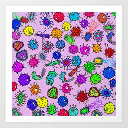 Bacteria Background Art Print