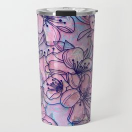 Over and Over Flowers 2 Travel Mug