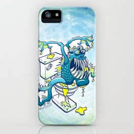 Toilet Monster iPhone Case