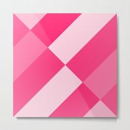 Hot Pink Angled gradient Metal Print