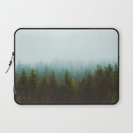 Landscape Pine Forest Green Evergreen Trees Minimalist Simple Landscape Laptop Sleeve