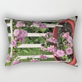 Clematis Josephine Rectangular Pillow