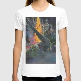 Upa Upa (The Fire Dance) by Paul Gauguin T-shirt