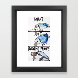 Bird no. 220: Compulsive Consumption Framed Art Print