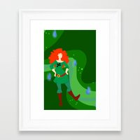 merida Framed Art Prints featuring Merida by Eva Duplan Illustrations