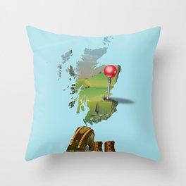 Edinburgh, Scotland, map Throw Pillow