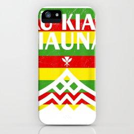 Kanaka Maoli Flag - We Are Mauna Kea- No TMT T-Shirt iPhone Case