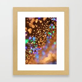 Chocolate Space Party Framed Art Print