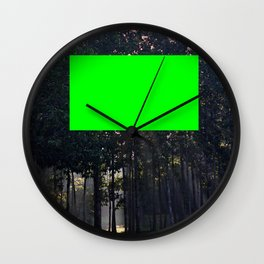 redacted landscape: obscene foliage Wall Clock