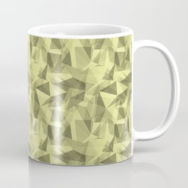Abstract Geometrical Triangle Patterns 3 VA Lime Green - Lime Mousse - Bright Cactus Green - Celery Coffee Mug