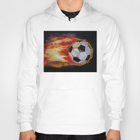 soccer Hoodies featuring Soccer by Michael Creese