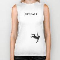 skyfall Biker Tanks featuring Skyfall by Arian Noveir