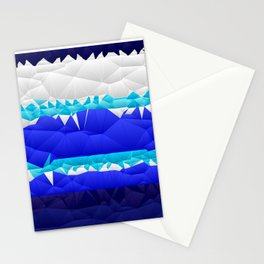 Nautical Inspired Quilted Pattern Design Stationery Cards