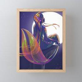 October- Birthstone Mermaid Series Framed Mini Art Print