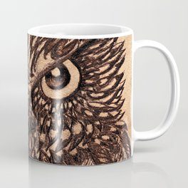 Fierce Brown Owl Coffee Mug