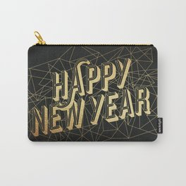 Happy New Year - Black Carry-All Pouch